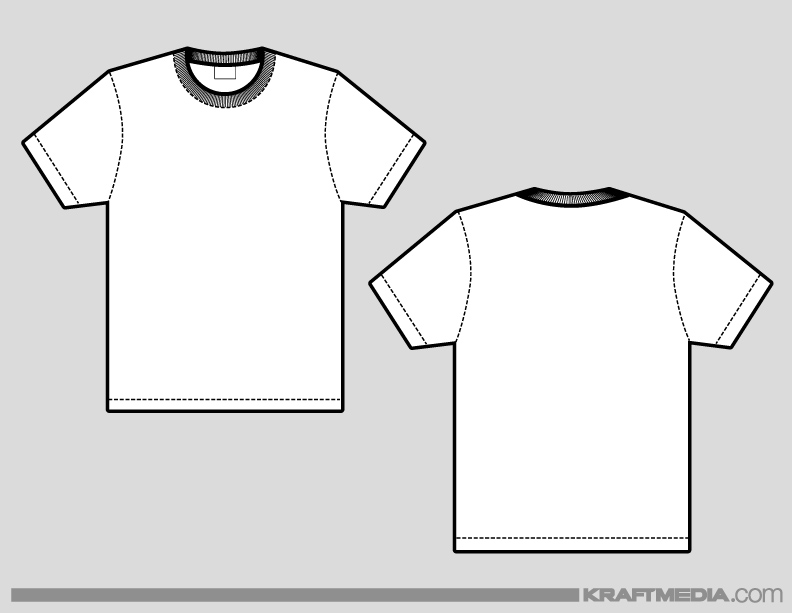 Blank Tshirt Template For Photoshop Front And Back Joy